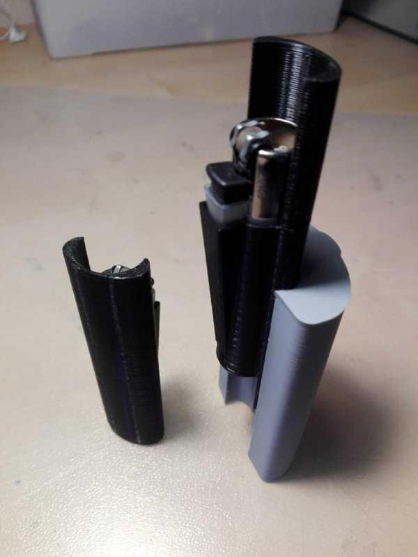 Clipper Çakmak İçin Kapak Ve Adaptör İle Smokesnap Plastik Aparat
