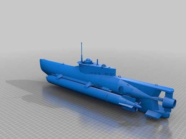 Seehund U-Boat Onardı Plastik Aparat
