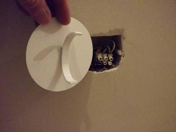 Elektrik Telleri - Kapak Plakası Ø 85 Plastik Aparat
