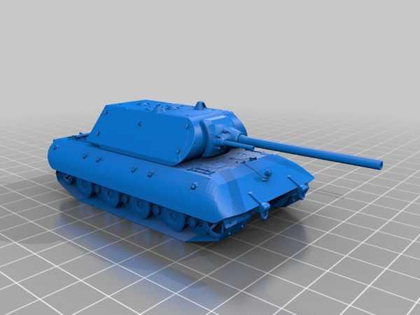 E-100 Tiger-Maus tareti, 12,8 cm top ile Dekoratif Aksesuar