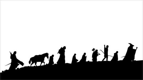 Yüzüklerin Efendisi Silueti Dekoratif Aksesuar Süs Eşyası