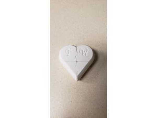 Özel Kalp Kutusu  Organik Plastikten Sevgiliye Hediyelik