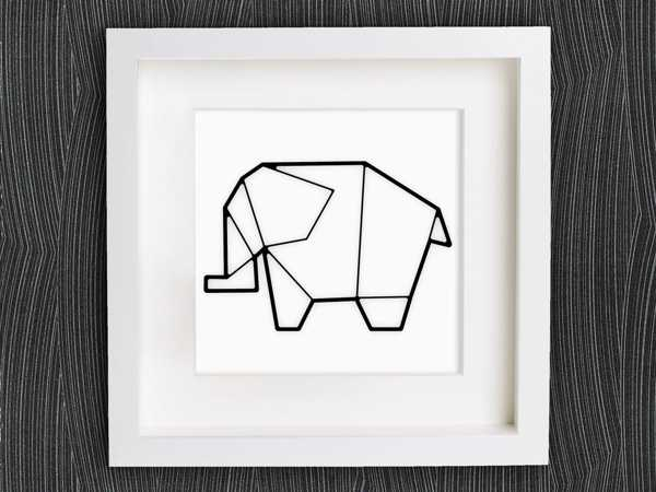 Origami Fil Organik Plastikten Dekoratif Hediyelik Biblo