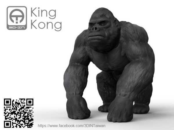 Hediyelik Süs Eşyası King Kong Masaüstü Dekoratif Biblo Dekor