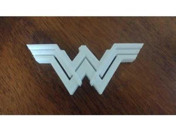 Wonder Woman Logosu  Organik Plastikten Aksesuar Dekoratif