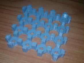 5mm LED'ler için 4x4 LED Küp Taban Plakası Tutucu Aparat