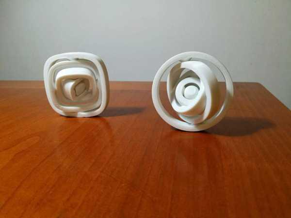 Yuvarlak Hava Döndürücü  Organik Plastikten Dekoratif Aparat