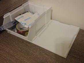 İstiflenebilir Kutu V4 için Taban  Organik Plastikten Aparat