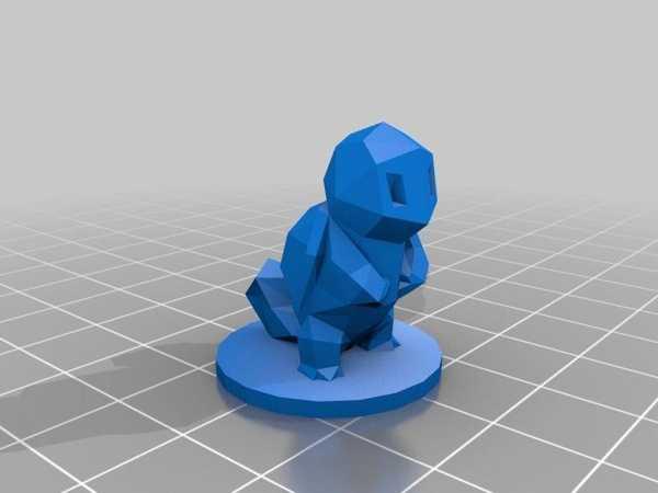 Toptan Tabanlı Düşük Poli Squirtle Pokemon  Çocuk Oyuncak Süs Eşyası