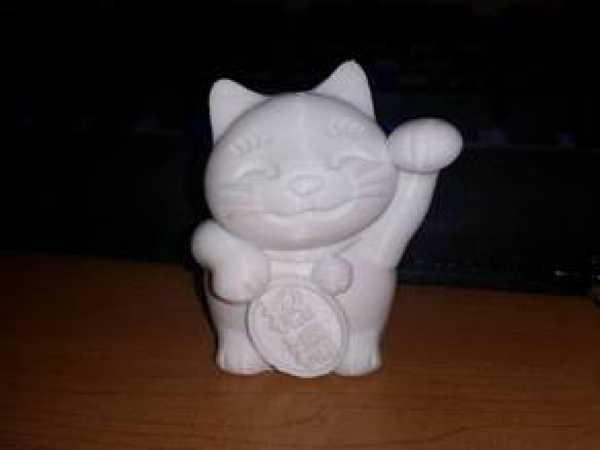 maneki-neko -Şanslı Kedi Biblo Dekoratif Hediyelik Süs Eşyası