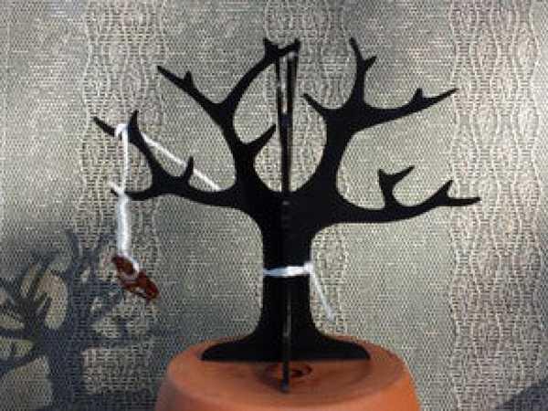 Çift Kapasiteli Küpelik Tutacağı Takı Ağacı Yüzük Organizer Düzen