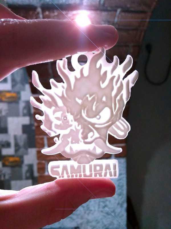 Cyberpunk 2077 Samuray Kolyelik Logo Zincir Hariç