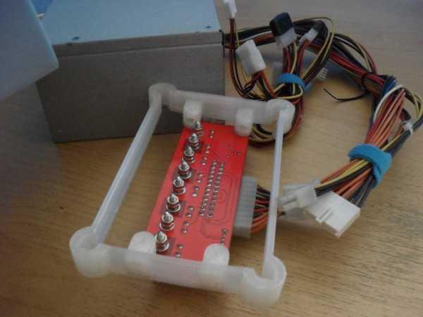 ATX PSU için Masaüstü Güç PCB Tutucu  Organik Plastikten
