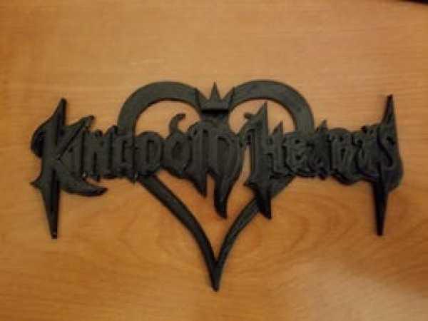 Kingdom Hearts Logosu Dekoratif Süs Eşyası Hediyelik Biblo