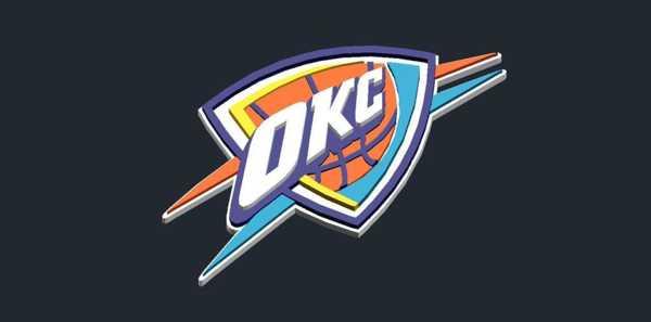 Oklahoma City Thunder - Logo Plastik Aparat