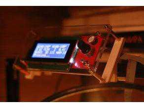Tevo Tarantula ekran kıskaçları / LCD braketi 2.0 Organik Plastik