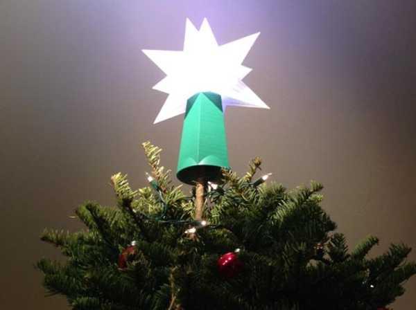 Noel Ağacı Topper Yıldız Tabanı Plastik Aparat