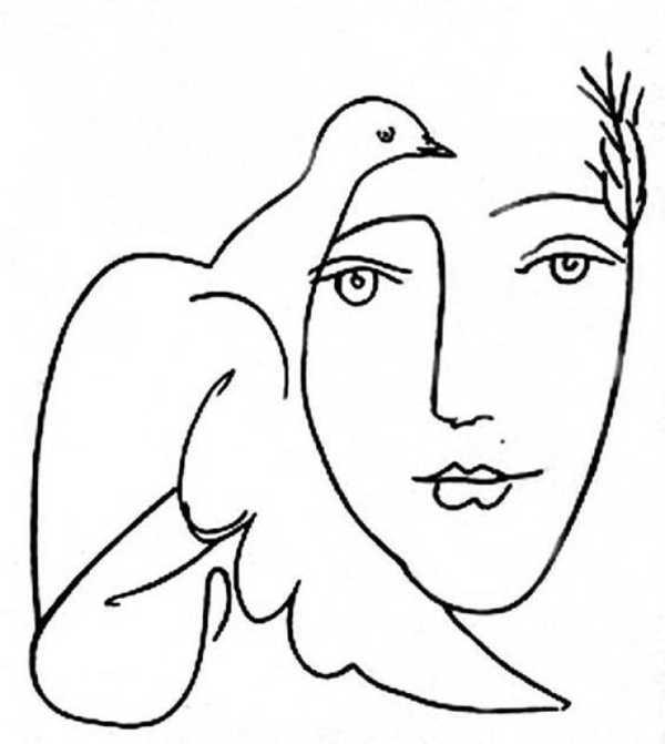 Kadın Ve Güvercin Picasso Plastik Aparat