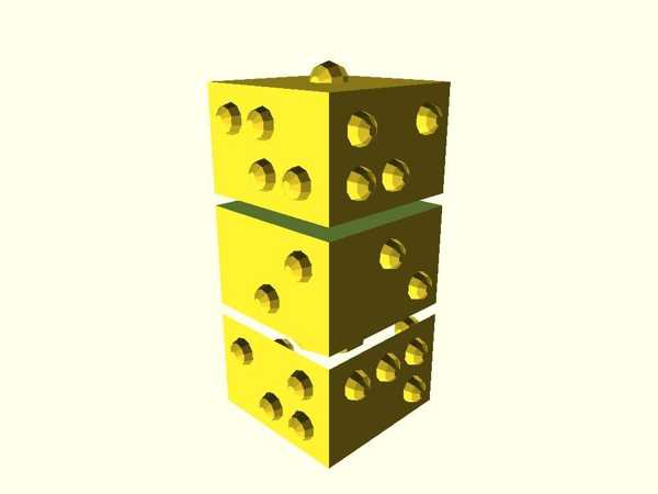 Braille Word Cube Plastik Aparat
