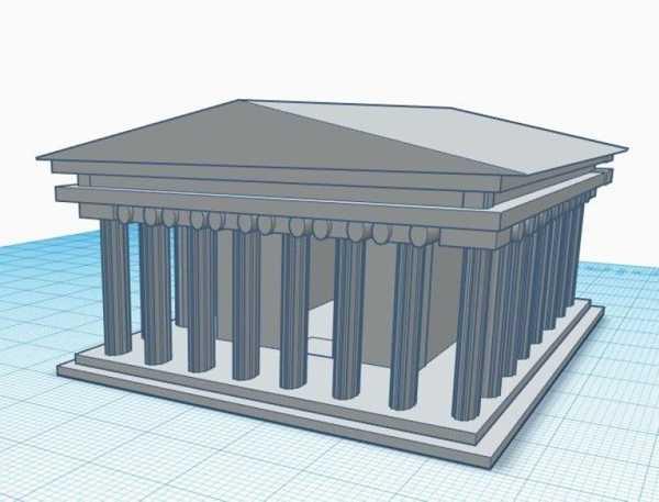 Toptan Yunan Parthenon Biblo Dekoratif Hediyelik Süs Eşyası Maket