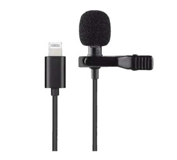 Yaka Mikrofonu Profesyonel Ses Kayıt 1.5 m Kablo LİGHTNİNG UÇLU