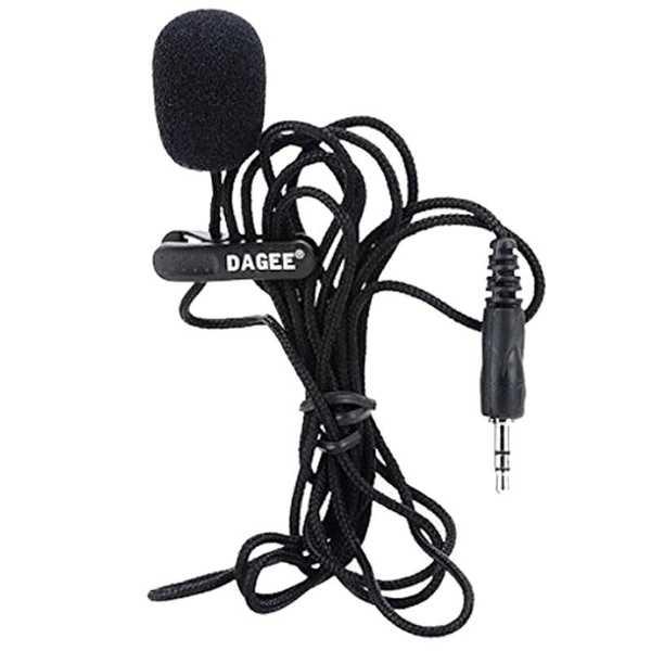 Yaka Mikrofonu Mini Taşınabilir Örgülü Kordon  2 Boğumlu