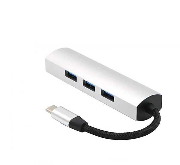 USB-C TO USB 3.0 HUB Çoklayıcı Çoğaltıcı Adaptör 4 Usb Girişli