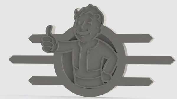 Fallout Rozeti Koleksiyonu Organik Plastikten Süs Eşyası Aksesuar