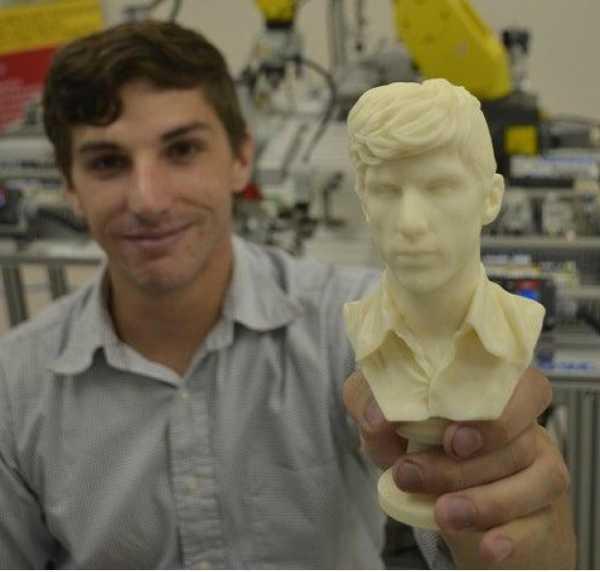 Andrew Lavabo 3D Taranmış Ve Modellenmiş Büstü Plastik Aparat
