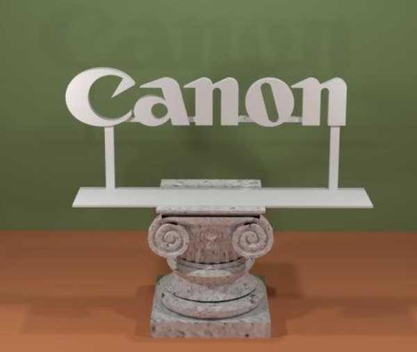Canon Logosu Plastik Aparat
