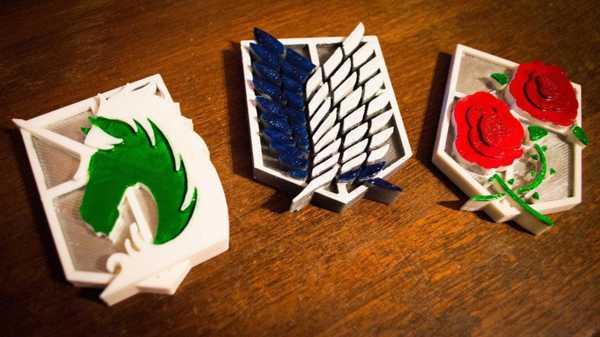 Titan Anketi Kolordu / Garnizon / Askeri Polis Tugayı Mıknatıs Seti Plastik Aparat