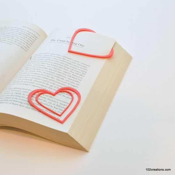 Kalp Kitap Ayracı Sayfa Ayrıştırıcı Bulma Aparatı Yer Bulucu