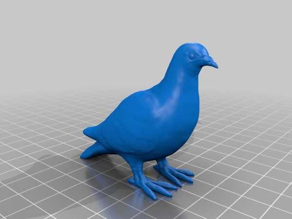 鳩 (Güvercin) 3D データ Plastik Aparat
