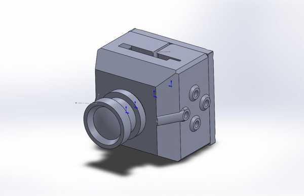 Fatshark 720P Hd Pilot Kamera Muhafazası Plastik Aparat