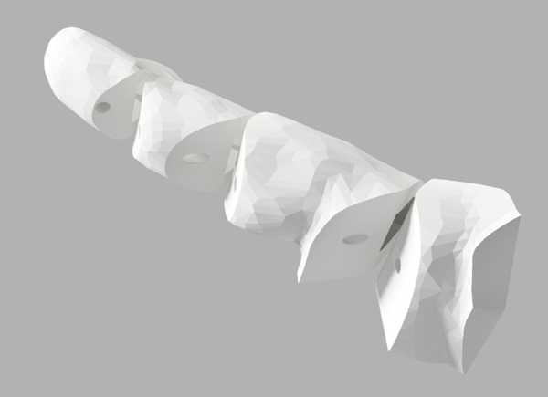 Sls Elastik Menteşeler İle Basılı Parmak. Plastik Aparat