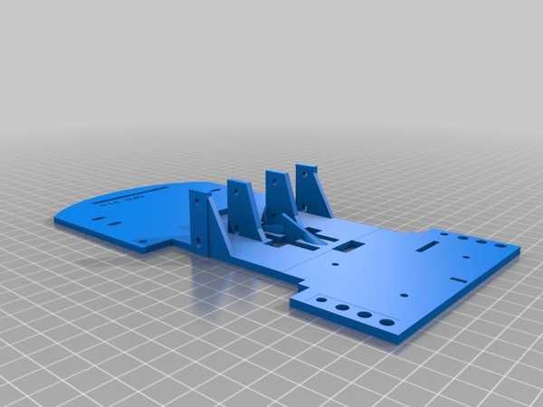 Toptan Gopigo Sürümü 1.0 İçin Deneysel Şasi (Ortalanmış) Plastik Aparat