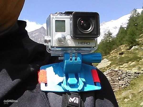 Gopro Kamera İçin Sırt Çantası Omuz Eki Plastik Aparat
