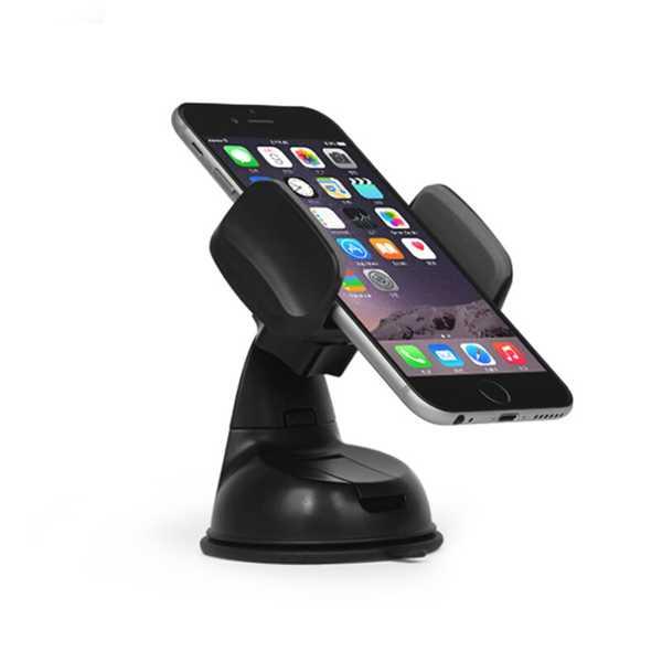 Araç İçi Telefon Tutucu Silikonlu Ayarlanabilir Kıskaçlı
