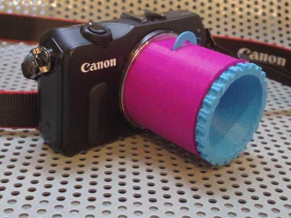 Diy Eos M Lens V1.3 (Tek / Duo Lens Tasarımı) Plastik Aparat