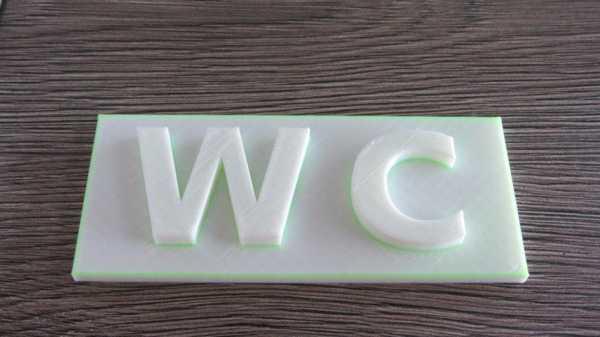 Wc İşareti Plastik Aparat