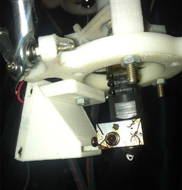 Rostock mini için j kafalı fan mounter vida girişli taşıyıcı