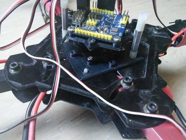 X525 MultiWii SE sönümleyici adaptör montajı  Organik Plastikten