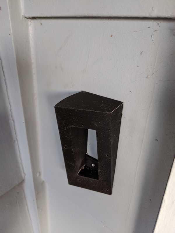Kapı Zili 2 Açılı Kama Montajı Tutucu Dekoratif Aparatı