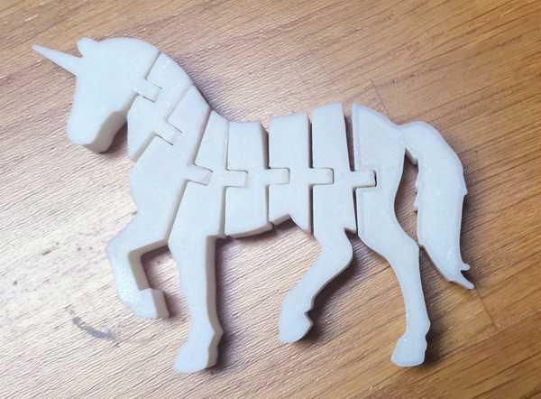 Flexi Unicorn At Organik Plastikten Dekoratif Dekoratig Süs Eşya