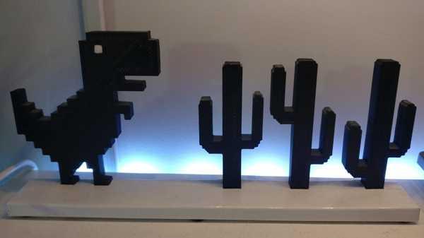 Google Chrome T-Rex Monitör Bling Dekor Biblo Süs Eşyası Aksesuar