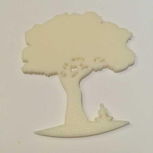 Budist Ağaç Tarafından Meditasyon Plastik Aparat