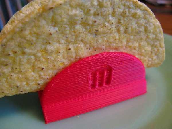 Taco Tutucu Standı Aparatı Organik Plastikten Organizer