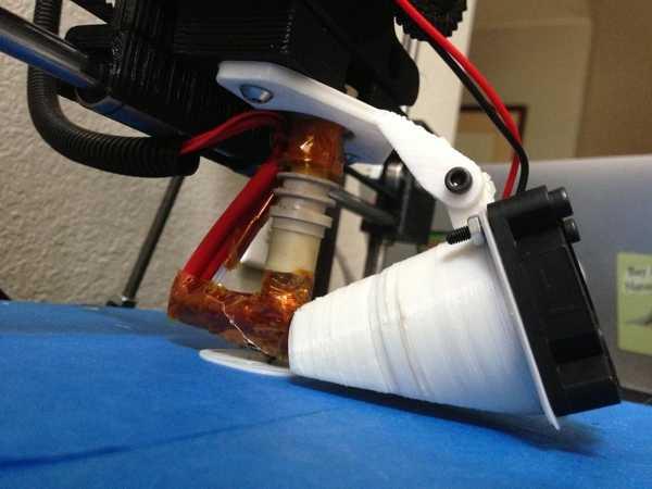 Prusa I3 Greg İn Wade Extruder İçin Ayarlanabilir Blower-Fan Tutucu Plastik Aparat