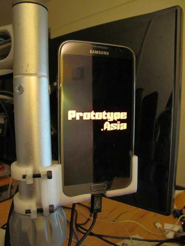 Galaxy Note 2: Tüp Tutucu Plastik Aparat