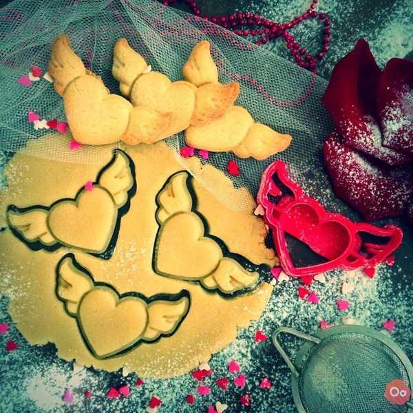 Toptan Kalp Kanatlı Sevgililer Günü Kurabiye Kek Kalıbı Kalıp Dekoratif